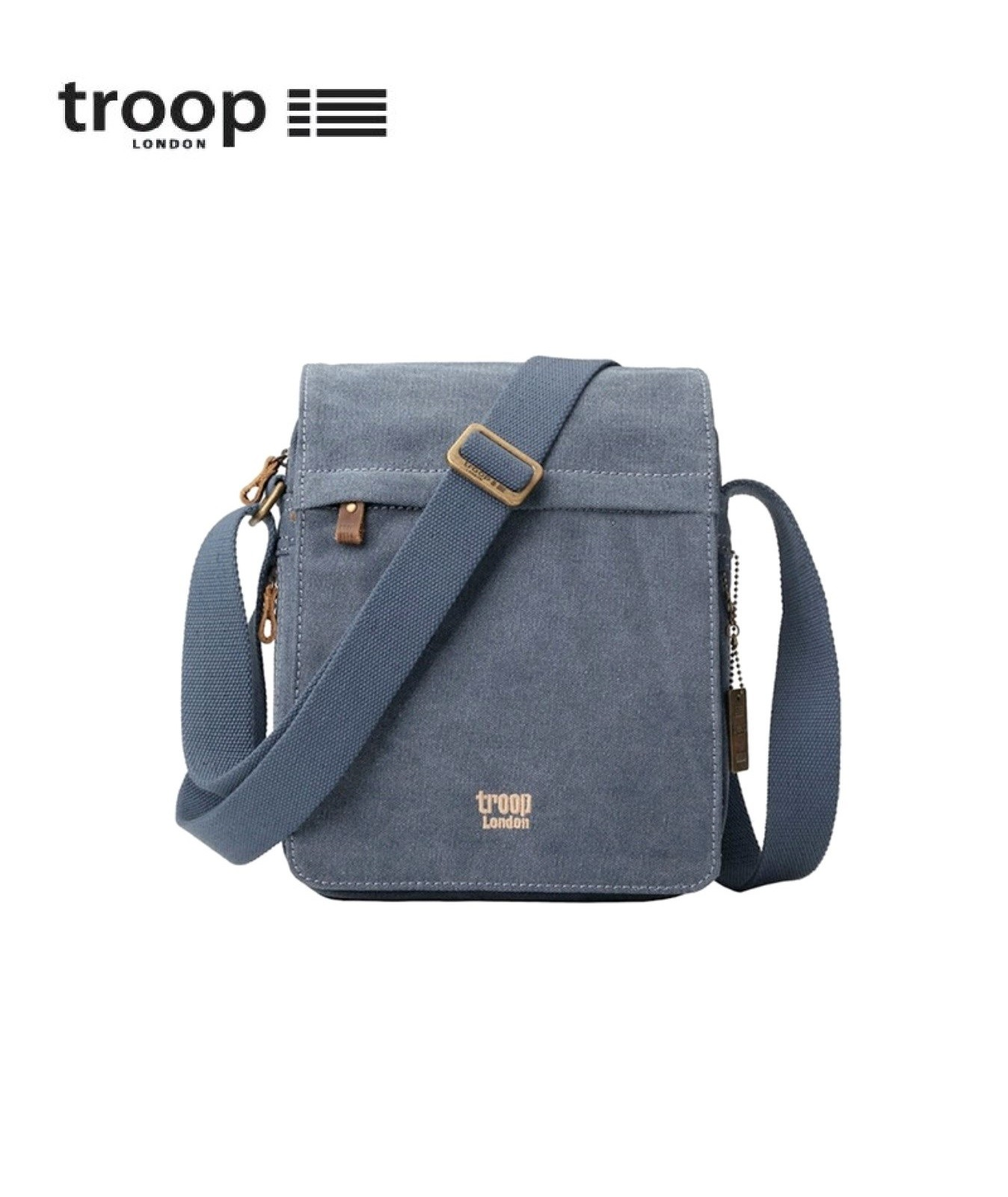 TRP0242 TROOP LONDON CLASSIC CANVAS ACROSS BODY BAG